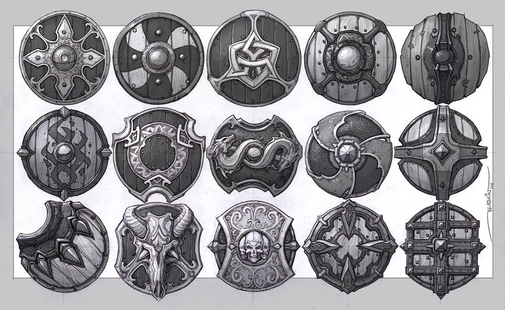 Shield concepts from Artyom Vlaskin on Muezli.com