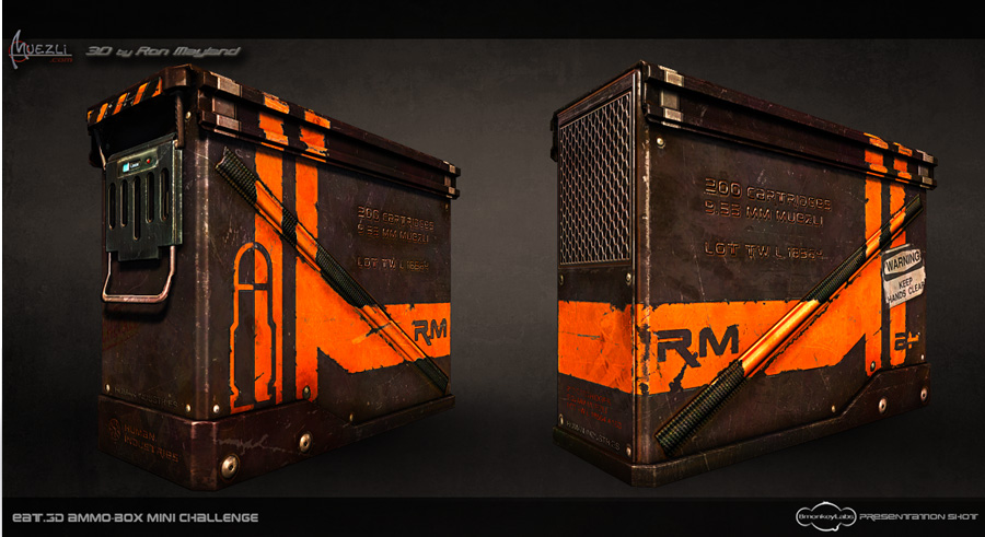Ammo Box 3D challenge Eat3d Front & Back by Ron Mayland