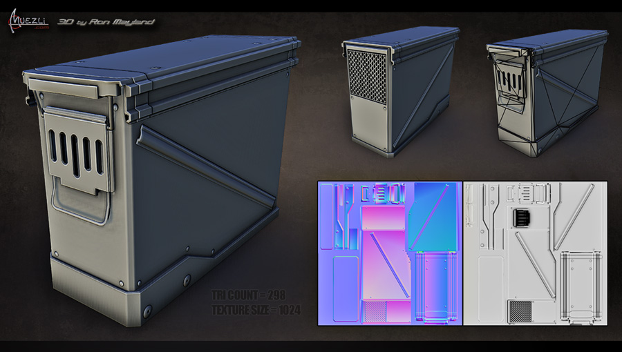 Ammo Box 3D challenge Eat3d Low-poly by Ron Mayland