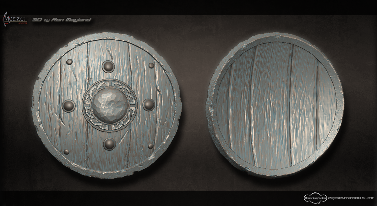 Viking_Shield_Zbrush_Sculpt_by_Muezli