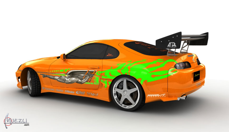 toyota supra fast and the furious high poly 3d car. Black Bedroom Furniture Sets. Home Design Ideas