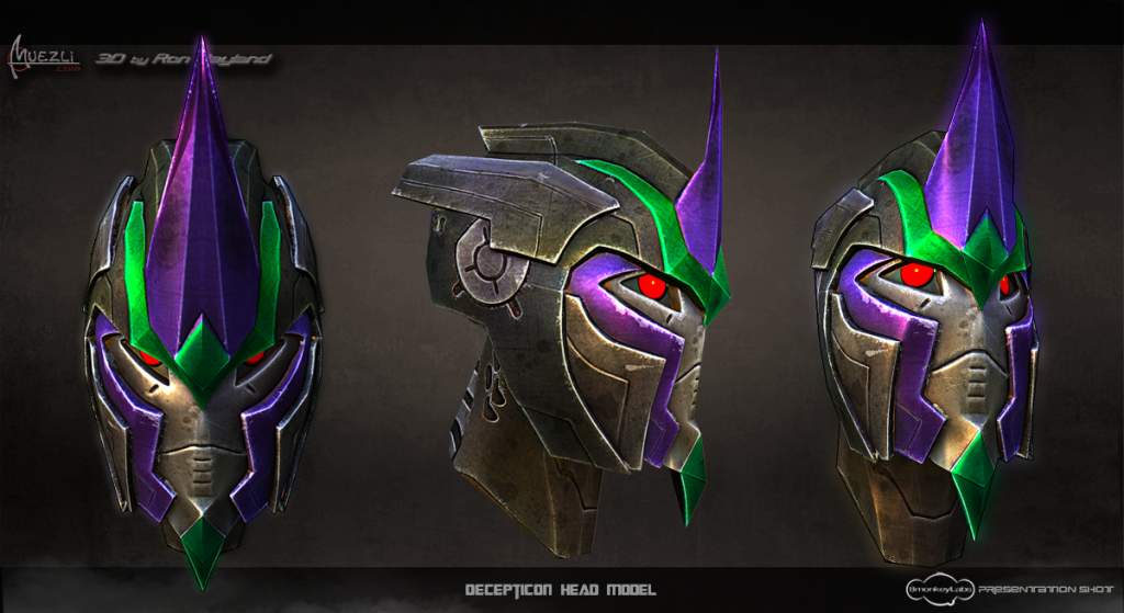 Transformers Universe Decepticon Head Presentation sheet by Muezli