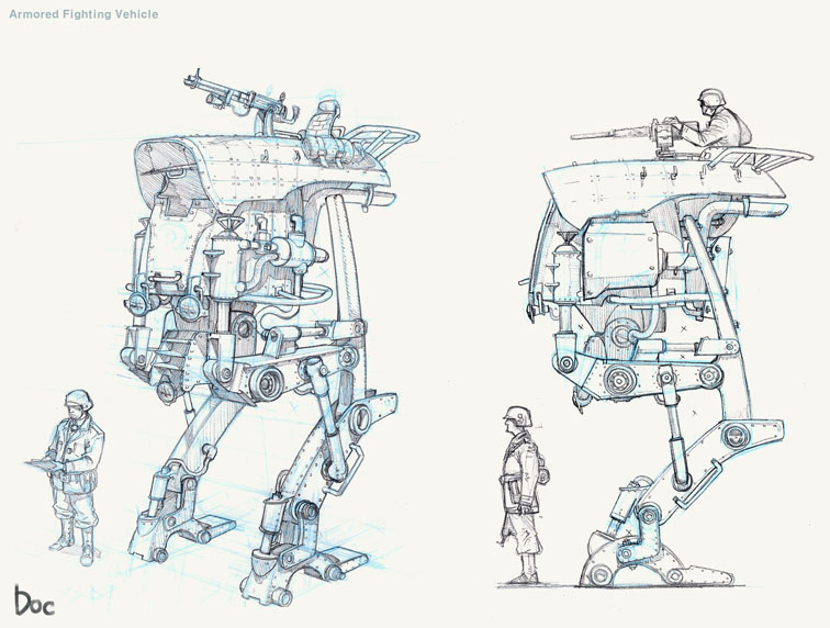 Russian_Roulette Armored fighting vehicle Concept Art by Moon on Muezli.com